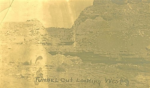 Railroad tunnel cut looking west, Abo Canyon, New Mexico - Page