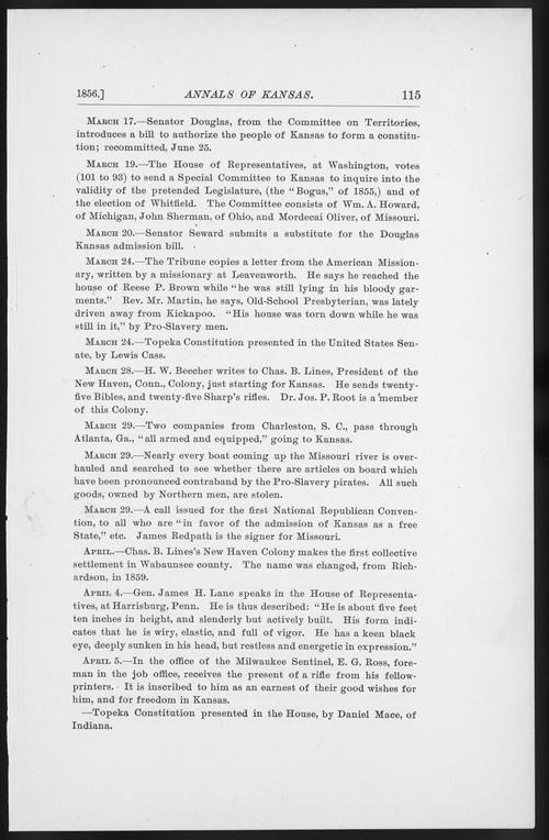 Annals of Kansas, April, 1856 - Page