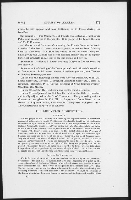Lecompton Constitution - Page