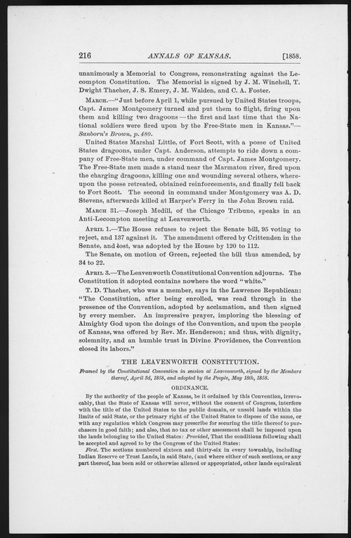 Leavenworth Constitution - Page