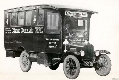 Coleman Company demonstration car - Page