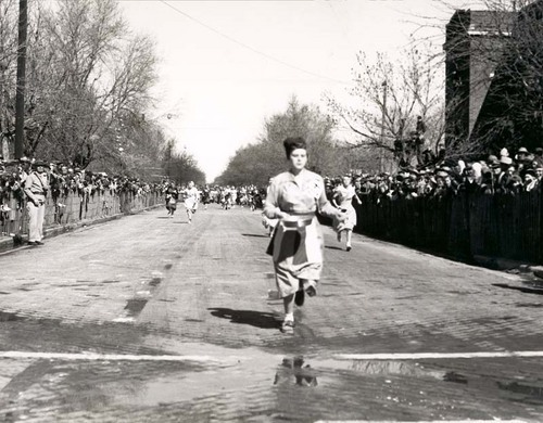 Shrove Tuesday runner, between 1960 and 1966