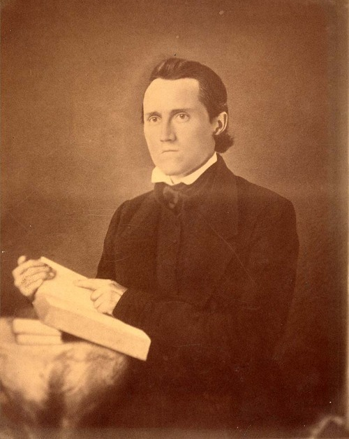 Portrait of Jotham Meeker, a Baptist missionary