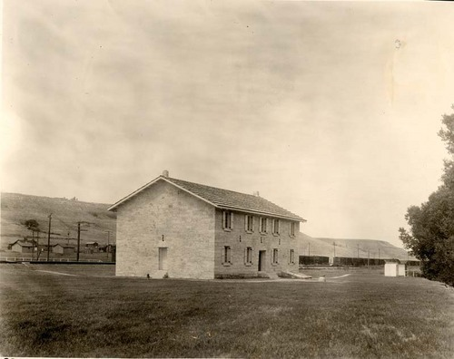 Exterior view of the First Territorial Capitol, Pawnee, Kansas,