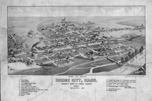 Bird's eye view of Dodge City, Kansas - Page