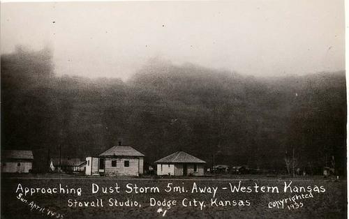 Approaching Dust Storm 5 mi Away - Western Kansas - Page
