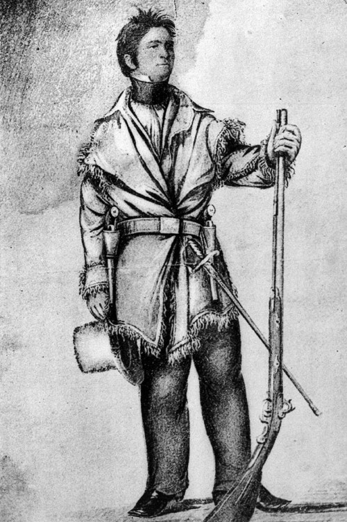Drawing of Colonel Henry Dodge made by George Catlin in 1834. Dodge was the first representative of the United States to meet with the Kiowa.