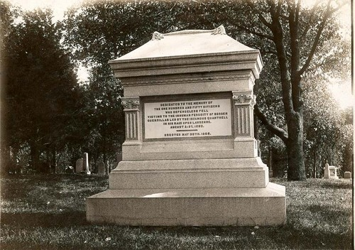 Monument to honor victims of Quantrill's Raid, Lawrence - Page