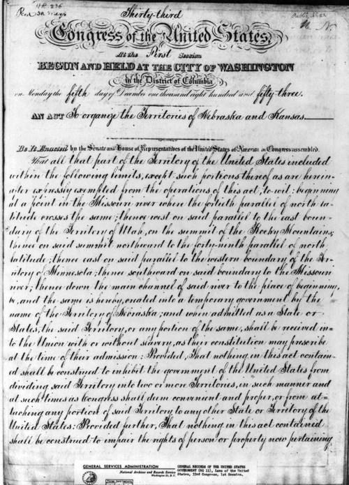 Kansas Nebraska Act - Page