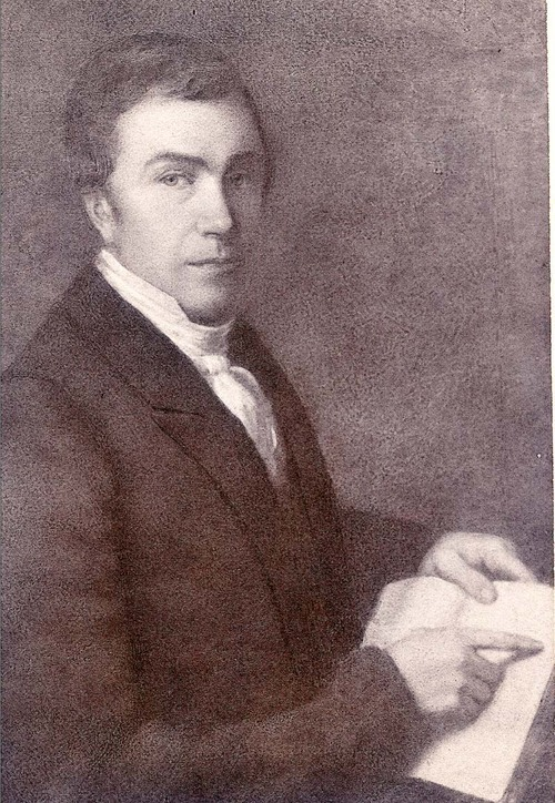 A portrait of missionary Reverend Isaac McCoy at age 47, 1831