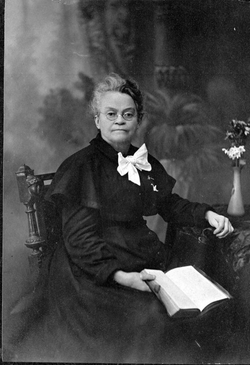 Studio portrait of  Carry Amelia Nation