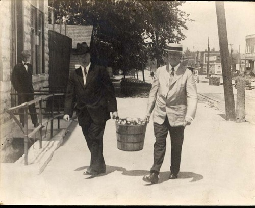 Sheldon and Young on a temperance crusade, Topeka, Kan. - Page