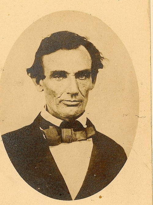 Photograph of Abraham Lincoln taken at the time of the Douglas- Lincoln debates, 1858