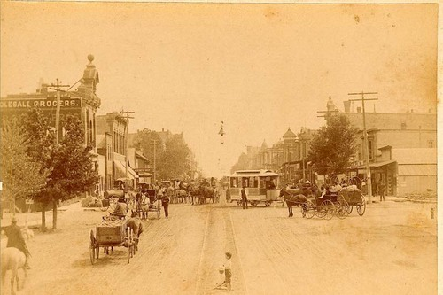 Street scene in Arkansas City, Kansas - Page