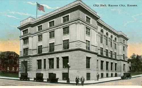 Drawing of City Hall, Kansas City,KS, 1915 - Page