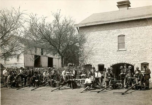 Farm machinery class at Kansas State Agricultural College, Manhattan, Kansas - Page
