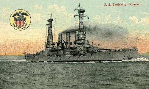 Launching of the Battleship Kansas - Page