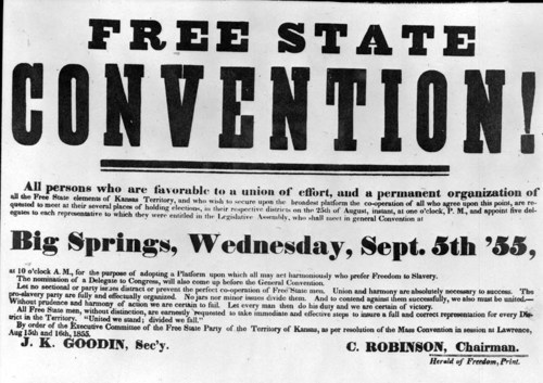 Free-State Convention Ad - Page