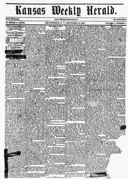Kansas Weekly Herald, 1854 - Page