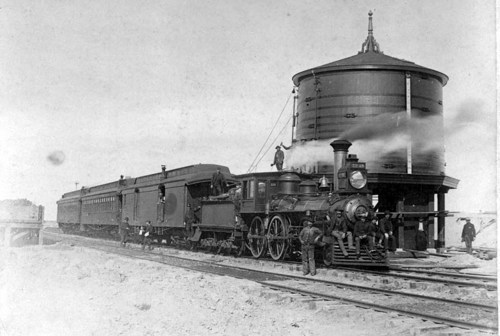 Train and water tank, Crosby, Kansas - Page