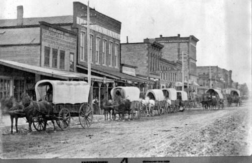 Wagon caravan, Topeka, Kansas - Page