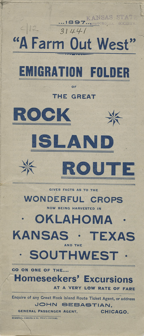 A farm out west.  Emigration folder of the great Rock Island route - Page