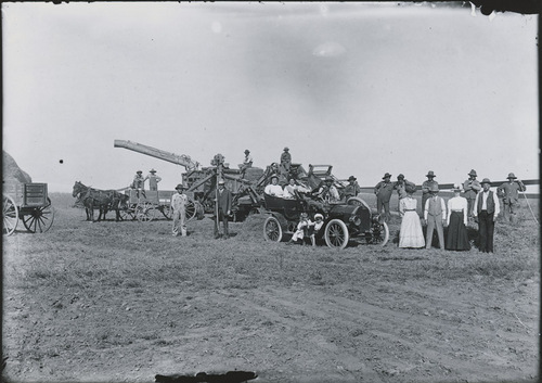Peck and Weakly threshing machine, Russell County, Kansas - Page