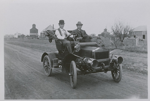 Henry Major in automobile, Dorrance, Kansas - Page