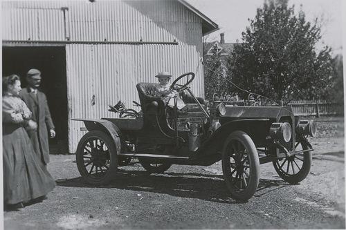 Elmo Mahoney in a Reo automobile, Dorrance, Kansas - Page