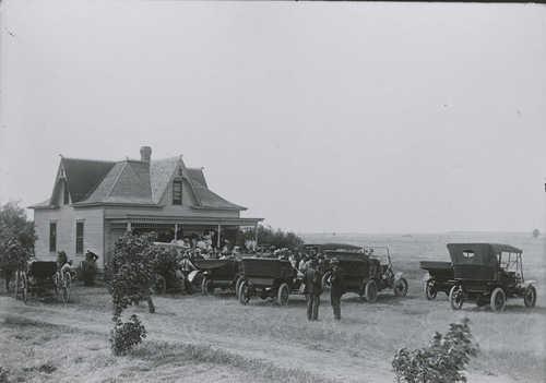 A gathering at Jonathan Erickson's home, Russell County, Kansas - Page