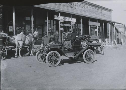 Enoch Graf in automobile, Dorrance, Kansas - Page