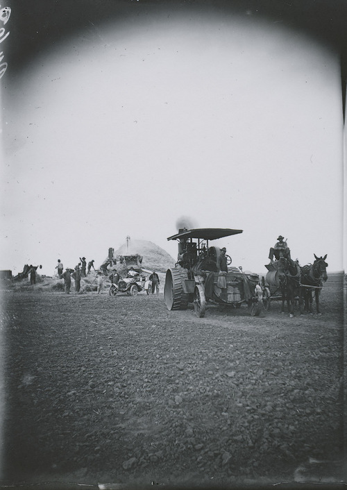 Harvesting crew and equipment, Russell County, Kansas - Page