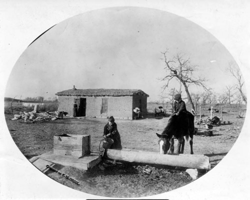 A sod house in eastern Beaver County, Oklahoma Territory - Page