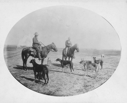 Billy Weldon and George Theis, Jr., getting ready for a wolf chase - Page