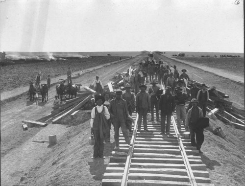 Santa Fe railroad crew in Haskell County, Kansas - Page