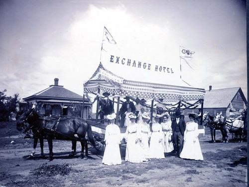 Parade float advertising the Exchange Hotel, Ashland, Kansas - Page
