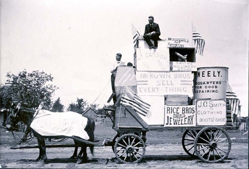 Parade float in Ashland, Kansas - Page