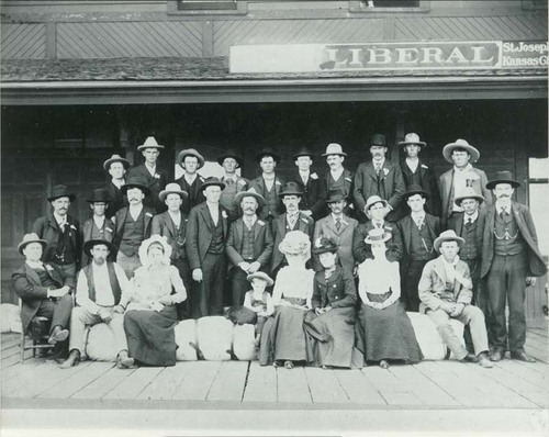 People at the train depot in Liberal, Kansas - Page