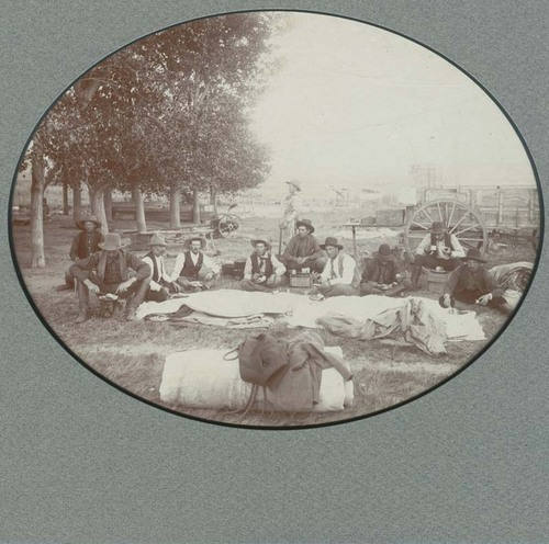 Chuckwagon and cowboys, Seward County, Kansas - Page