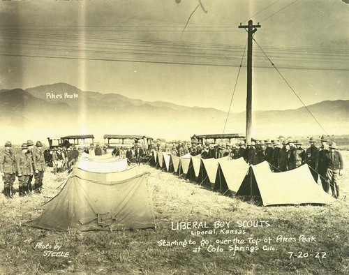 Liberal, Kansas, Boy Scouts camped near Colorado Springs, Colorado - Page