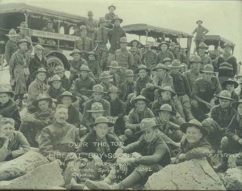 Liberal, Kansas, Boy Scouts at the top of Pikes Peak - Page
