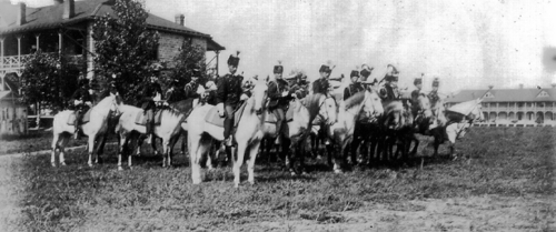 Photo of the mounted band at Fort Riley