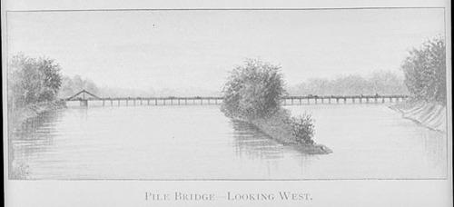 Pile Bridge, Topeka, Kansas Territory - Page