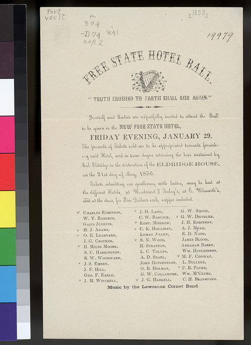 Free State Hotel ball invitation - Page