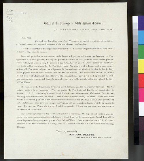 New York State Kansas Committee Settlement Promotional Letter - Page