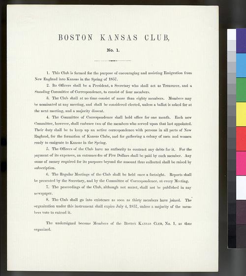 Boston Kansas Club No. 1 - Page