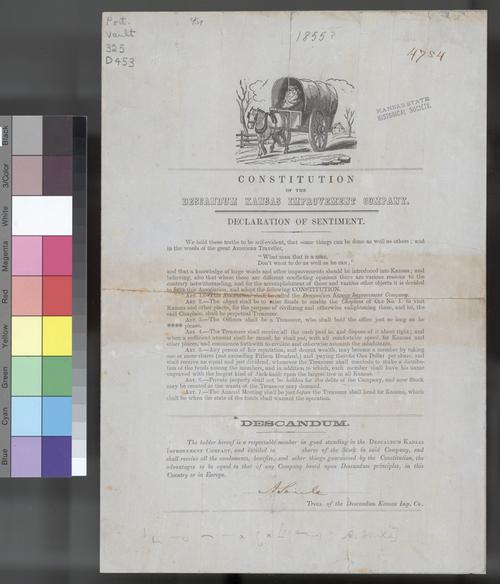 Descandum Kansas Improvement Company constitution - Page