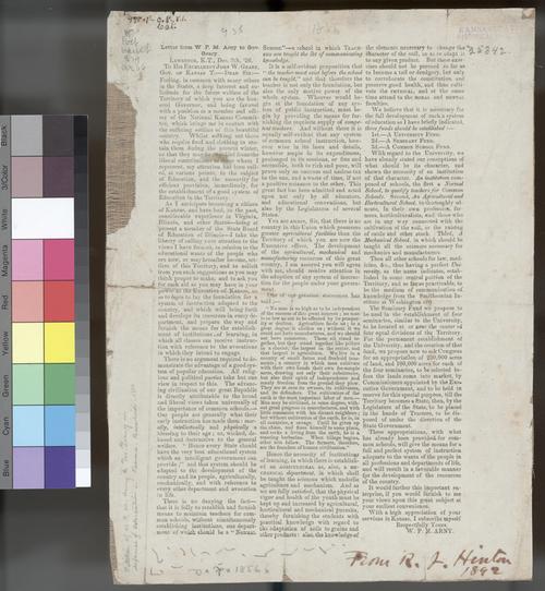 W. F. M. Arny to John W. Geary - Page