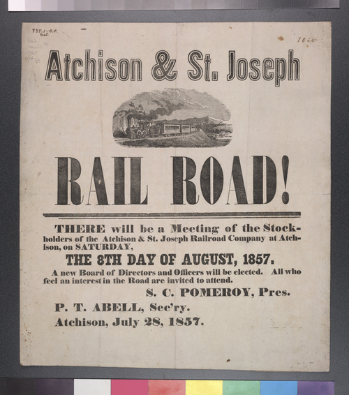 Atchison and St. Joseph Railroad Company stockholders' meeting - Page