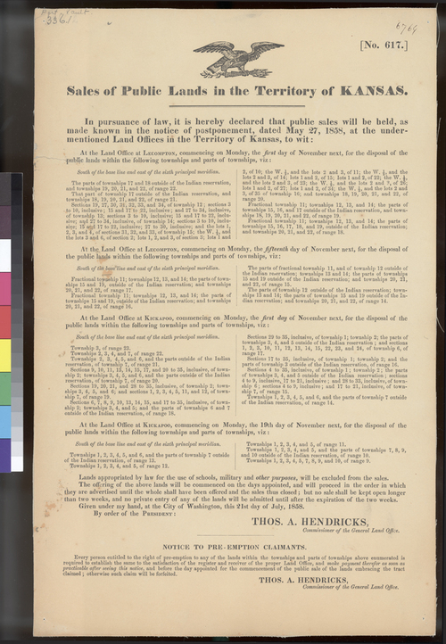 Sale of public lands, Kansas Territory - Page